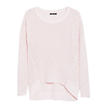 Buy Mango Asymmetric Open Knit Jumper Online at johnlewis.com