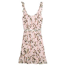 Buy Mango Floral Print Dress, Light-Pastel Pink Online at johnlewis.com