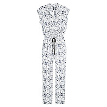 Buy Mango Floral Print Long Jumpsuit, Navy Online at johnlewis.com