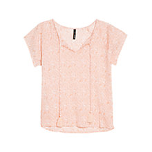 Buy Mango Printed Tassel Top Online at johnlewis.com
