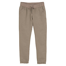 Buy Mango Ribbed Waistband Trousers, Stone Online at johnlewis.com