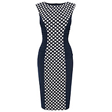 Buy Phase Eight Lori Spot Illusion Dress, Navy/Cream Online at johnlewis.com