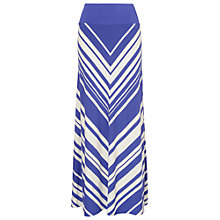 Buy Phase Eight Dakota Chevron Stripe Maxi Skirt, Periwinkle Online at johnlewis.com
