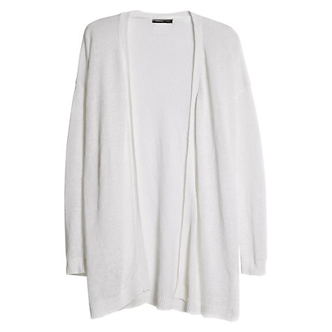 Buy Mango Linen Cardigan, White Online at johnlewis.com