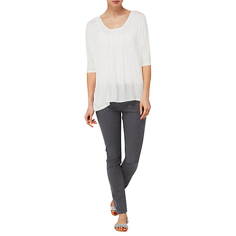 Buy Phase Eight Blake Silk Front Top, White Online at johnlewis.com