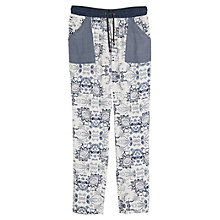 Buy Mango Mixed Print Trousers, Navy/White Online at johnlewis.com