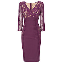 Buy Phase Eight Marissa Lace Dress, Burgundy Online at johnlewis.com