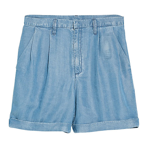 Buy Mango Tencel Bermuda Shorts, Light Blue Online at johnlewis.com