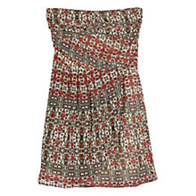 Buy Mango Strapless Dress, Natural White Online at johnlewis.com