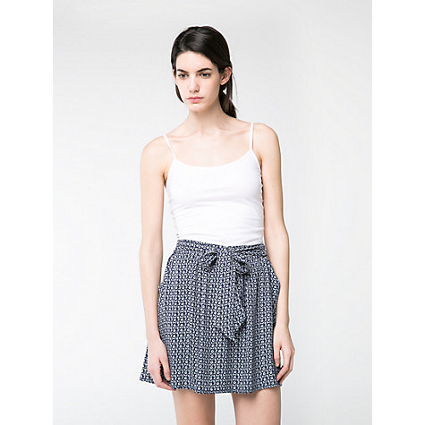 Buy Mango Bow Printed Skirt, Navy Online at johnlewis.com