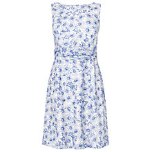 Buy Phase Eight Anneka Floral Embroidered Shift Dress, Periwinkle/White Online at johnlewis.com