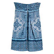 Buy Mango Halterneck Paisley Dress, Blue Online at johnlewis.com