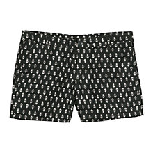 Buy Mango Tie Print Shorts, Black Online at johnlewis.com