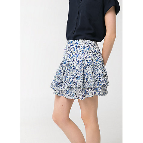 Buy Mango Ruffled Floral Mini Skirt Online at johnlewis.com