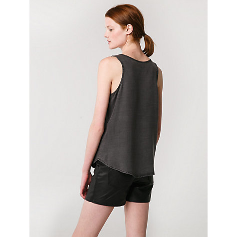 Buy Mango Tencel Sleeveless Top, Dark Grey Online at johnlewis.com