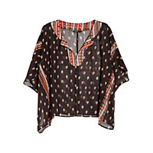Buy Mango Printed Chiffon Caftan Top Online at johnlewis.com