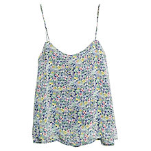 Buy Mango Floral Print Top, Dark Blue Online at johnlewis.com