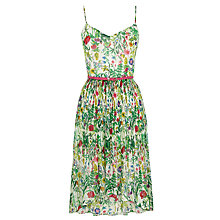 Buy Oasis Botanical Flower Dress, Multi/White Online at johnlewis.com
