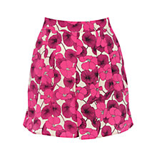 Buy Oasis Floral Print Shorts, Multi Pink Online at johnlewis.com