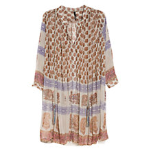 Buy Mango Hippie Chic Dress, Natural White Online at johnlewis.com