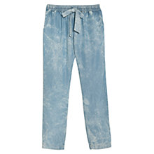Buy Mango Tencel Loose Fit Trousers, Light Blue Online at johnlewis.com