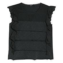Buy Mango Ruffled Slub T-Shirt Online at johnlewis.com