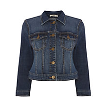 Buy Oasis Sienna Cropped Jacket, Denim Online at johnlewis.com