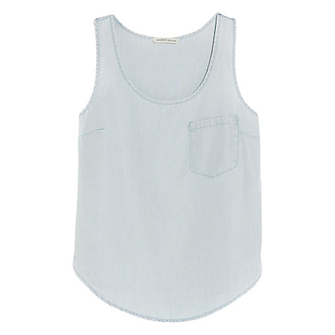 Buy Mango Bleached Top, Pastel Blue Online at johnlewis.com