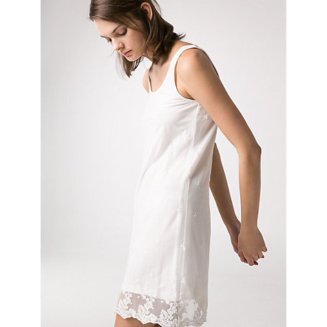 Buy Mango Embroidered Tulle Dress, Natural White Online at johnlewis.com