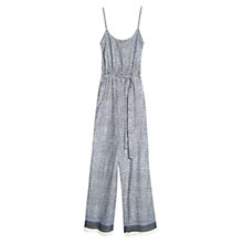 Buy Mango Printed Long Jumpsuit, Navy Online at johnlewis.com