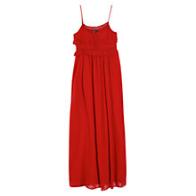 Buy Mango Crochet Maxi Dress, Bright Red Online at johnlewis.com