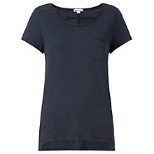Buy Whistles Bryony Pocket T-Shirt, Navy Online at johnlewis.com