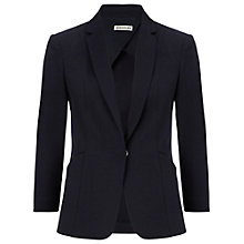 Buy Whistles Eva Cotton Pique Blazer, Navy Online at johnlewis.com