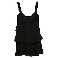 Buy Mango Ruffle Dress, Black Online at johnlewis.com