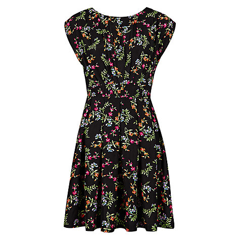 Buy Louche Stephanie-Flower Dress, Black Online at johnlewis.com