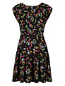 Louche Stephanie-Flower Dress, Black