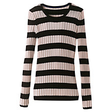 Buy Winser London Striped Ribbed Jumper Online at johnlewis.com
