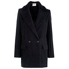 Buy Farhi by Nicole Farhi Shearling Collar Coat, Black Online at johnlewis.com