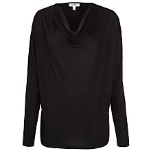 Buy Farhi by Nicole Farhi Cowl Jersey Top, Black Online at johnlewis.com