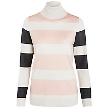 Buy Farhi by Nicole Farhi Stripe Polo Jumper, Multi Online at johnlewis.com