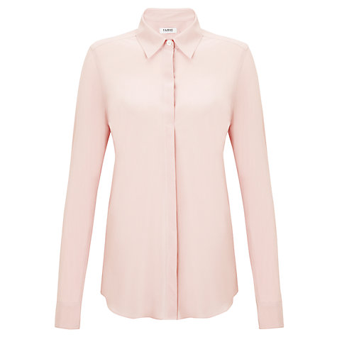 Buy Farhi by Nicole Farhi Silk Blouse, Light Pink Online at johnlewis.com