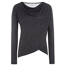Buy Farhi by Nicole Farhi Animal Jersey Top, Grey Online at johnlewis.com
