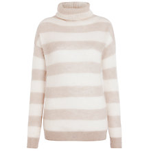 Buy Farhi by Nicole Farhi Mohair Polo, Buff/Grey Online at johnlewis.com