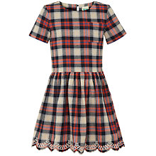 Buy Yumi Girl Tartan Check Dress, Red/Blue Online at johnlewis.com
