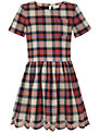 Yumi Girl Tartan Check Dress, Red/Blue