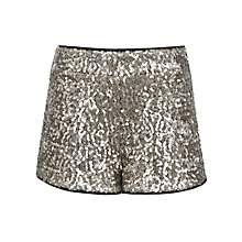 Buy John Lewis Girl Sequin Shorts, Silver Online at johnlewis.com