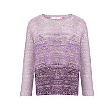Buy John Lewis Girl Sequin Ombre Jumper, Purple Online at johnlewis.com