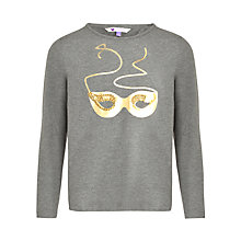 Buy John Lewis Girl Sequin Mask Long Sleeve T-Shirt, Grey Online at johnlewis.com