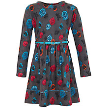 Buy Yumi Girl Rose Print Dress, Grey Online at johnlewis.com