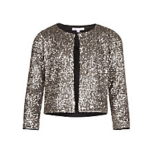 Buy John Lewis Girl Sequin Jacket, Silver Online at johnlewis.com